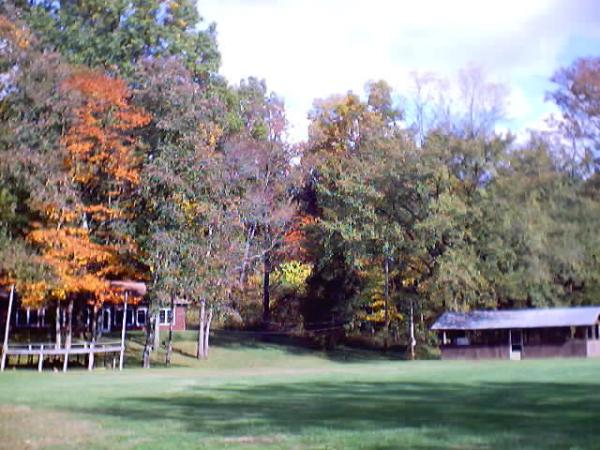 Church grounds in the fall